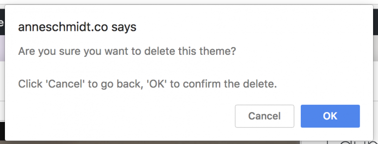 Are you sure you want to delete this theme?