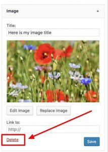Delete a widget