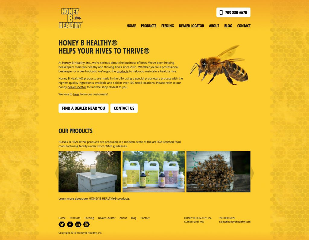 Honey B Healthy Homepage