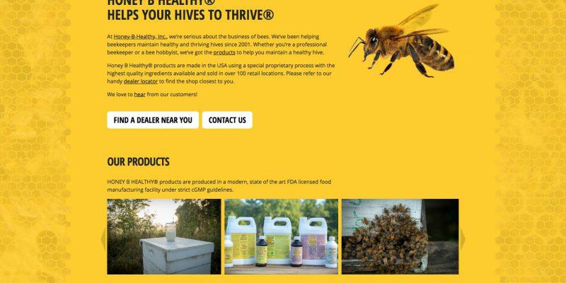 Honey B Healthy Homepage